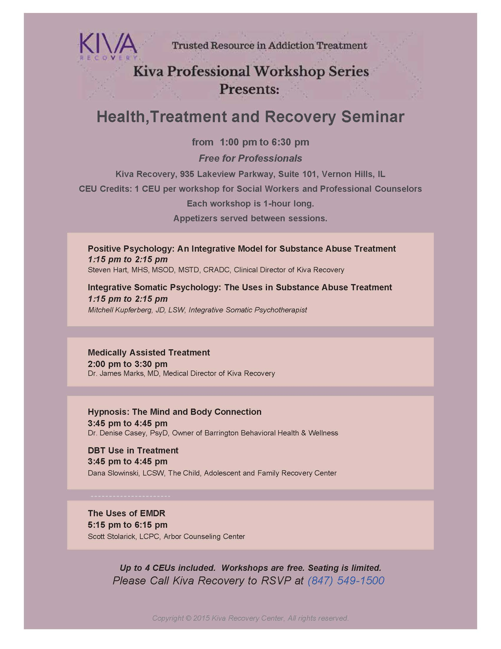 Kiva Recovery Professionals Workshop