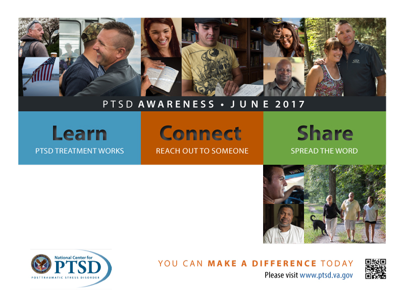 June is PTSD Month - Help Barrington Behavioral Health and Wellness support the National Center for PTSD spread the word about the treatment and relief those suffering from Post Traumatic Stress Disorder. Call us today at 888-261-2178, we can help!