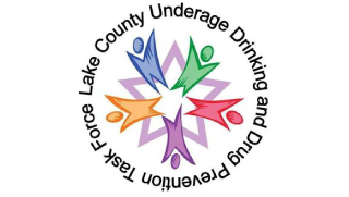 Logo of, and link to, Lake County Underage Drinking and Drug Prevention Task Force. For more information, contact Barrington Behavioral Health and Wellness at 888-261-2178