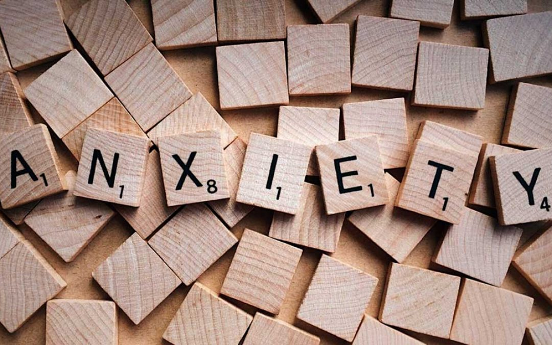 Image of Scrabble chits spelling out the word 'anxiety'. Anxiety and fear can be very real and debilitating to those who suffer with it. Come to our 10 week group sessions to learn how to identify and overcome anxiety. Call 888-261-2178 or email tylerbbhw@gmail.com to register