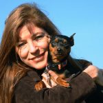 Image of Dr. Denise Casey and Nika circa 2005 enjoying the Dog Park at Lakewood Forest Preserve in Wauconda. If you're struggling with grief and loss call us: 888-261-2178 or email help@barringtonbhw.com