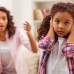 Image of a child hold her hands to her ears to block out her mother's words. If you need support for your parenting skills, call us at Barrington Behavioral Health and Wellness. Phone: 888-261-2178 or email help@barringtonbhw.com