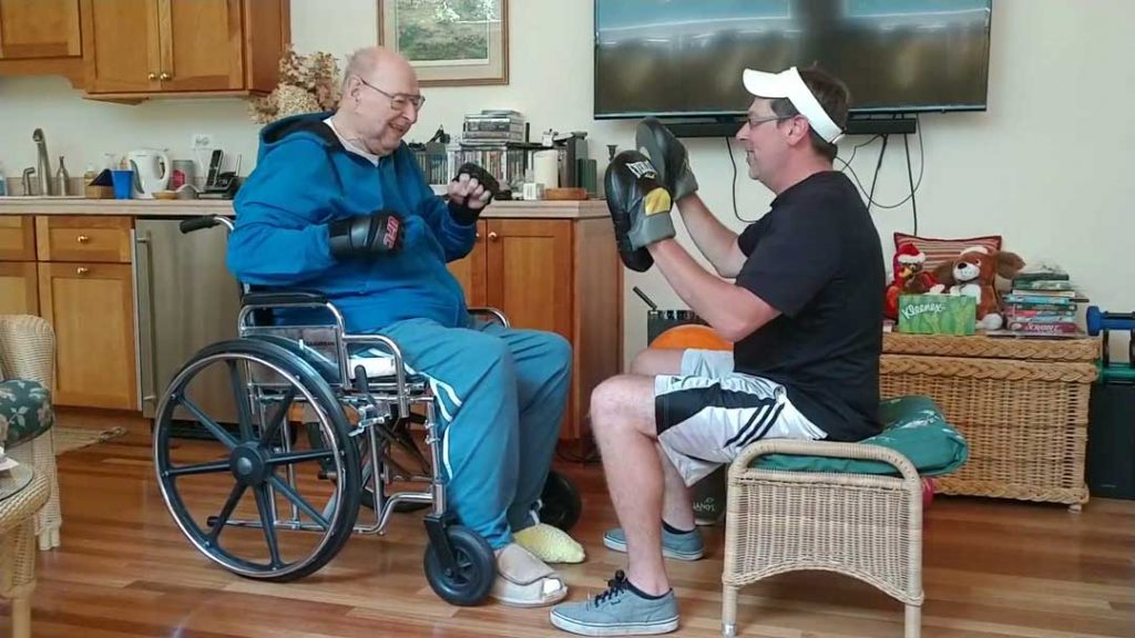 Picture of 'Big Bob Dhaens (89) sparring with personal trainer Sgt. Dan Laubach while seated in a wheelchair. Who Inspires You? Breaking a bad habit can be as easy as starting a new, healthier, challenge. Learn how you can build healthier habits now that will benefit you years from now. Call Barrington Behavioral Health & Wellness: 888-261-2178