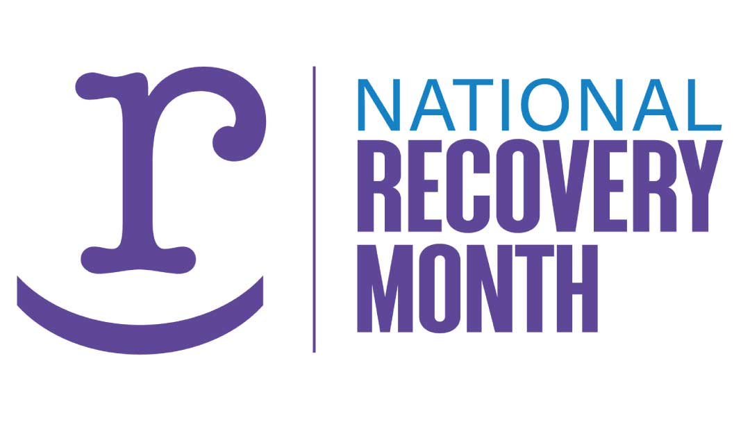 Logo of the 2021 National Recovery Month sponsored by SAMHSA. More information at: https://rm.facesandvoicesofrecovery.org